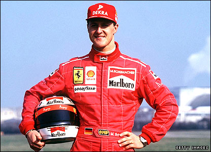 Michael Schumacher at Ferrari HQ in Maranello in 1996