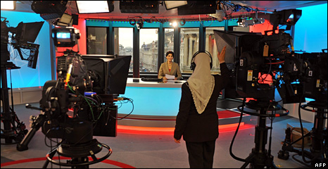 Rehearsals for BBC Persian television