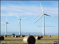 Campos para la producción de energía eólica en Inglaterra