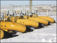 Russian gas pumping station