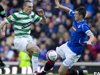 Celtic's Scott Brown and Rangers' Barry Ferguson
