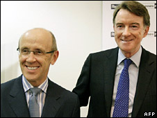 Mervyn Davies and Lord Mandelson