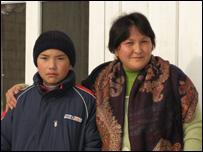 Исхак Туркбаев  и его мама