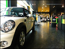 Mini car showroom in Berlin