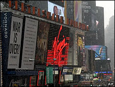 Virgin Megastore in Times Square, New York