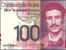 Charles Rennie Mackintosh on �100 banknote