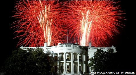Fireworks at the White House