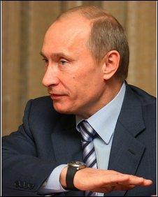 Russian Pime Minister Vladimir Putin