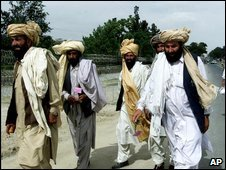 Afghan loya jirga members. File pic