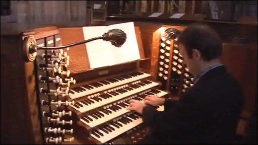 Church organ at St Mary Redcliffe