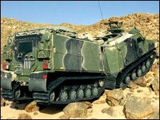 Viking all-terrain armoured vehicle: Pic Royal Navy