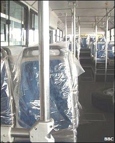 Gleaming interior of new Ivory Coast bus