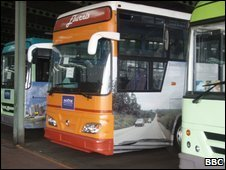 Ivory Coast's new fleet of buses