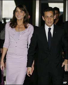 Nicolas Sarkozy and Carla Bruni in Brazil