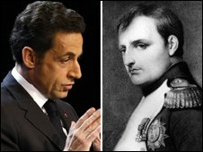 Nicolas Sarkozy and Napoleon Bonaparte