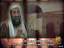 Video containing new audio message by Osama Bin Laden