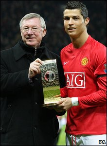 Sir Alex Ferguson (left) and Cristiano Ronaldo