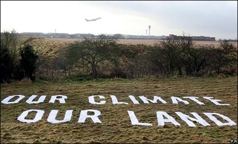 Greenpeace protest near Heathrow