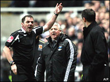 Phil Dowd, Joe Kinnear and Phil Brown