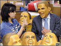 Empresa japonesa fabrica m�scaras de Obama