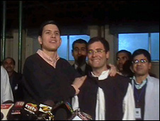 David Miliband and Rahul Gandhi in Amethi
