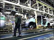 Toyota car factory