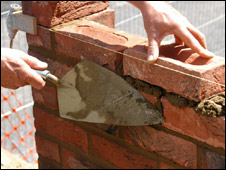 Bricks being layed