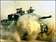 British army tank