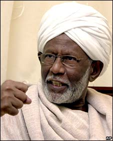 Sudanese opposition leader Hassan al-Turabi 