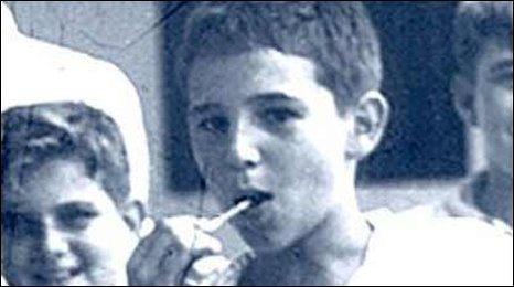 Castro as a schoolboy