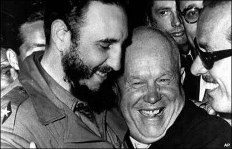Castro with Soviet President Nikita Khrushchev