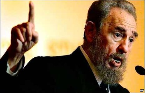 Castro making an impassioned speech