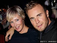 Gary Barlow with his wife Dawn