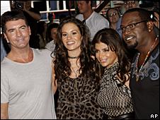 Simon Cowell, Kara DioGuardi, Paula Abdul and Randy Jackson
