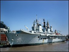 Ark Royal on Mersey