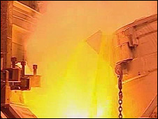 Smelting process at Anglesey Aluminium