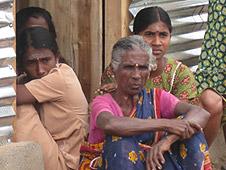 People in an IDP camp in Vavuniya