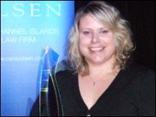 Nikki Trebert with her award
