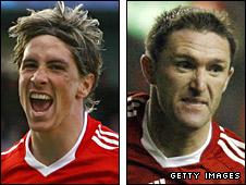 Fernando Torres and Robbie Keane