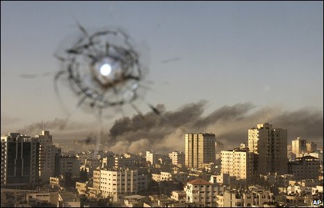 View from Associated Press office in Gaza