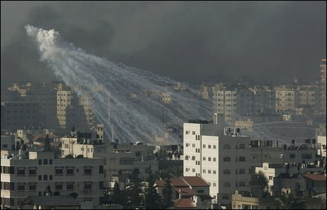 Israeli bombardment in Gaza City (15/1/2009)
