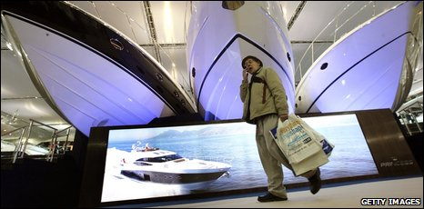 Elderly man at the London Boat Show