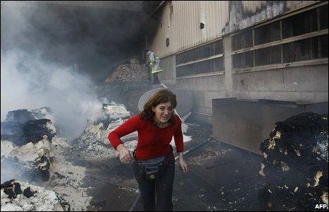 UN centre in Gaza after Israeli bombardment