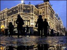 Moscow night scene