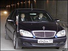 Prime Minister Putin drove a Mercedes in Sochi in February