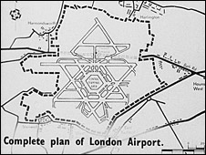 Government plan from 1946 about expanding the airport: pic Alan Gallop