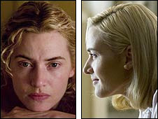 slet in The Reader (left) and Revolutionary Road (right)