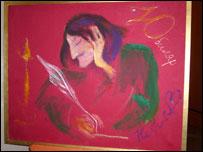 """Картина Анны Нетребко """"Юбиляр (Гоголь)"""""""