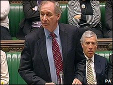 Transport Secretary Geoff Hoon in the Commons