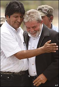 Evo Morales y Luiz Inácio Lula da Silva